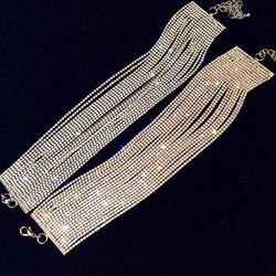 Luxo strass gargantilha de cristal maxi instrução colar 2017 multicamadas gargantilhas de casamento colar moda jóias acessórios