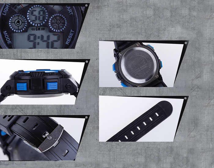Kinder Kinder Mädchen Junge Uhr Digital Multicolor Optional LED Sport Armbanduhr дткие reloj nia montre enfant reloj nio saat