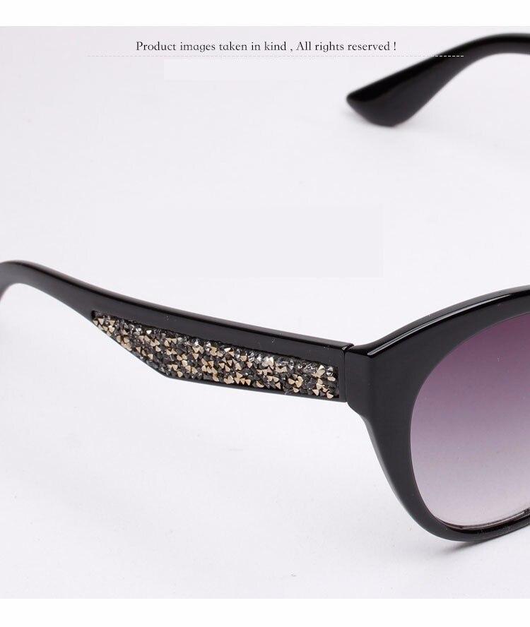 26dde095a اثنين كلوك مثير الإناث القط العين النظارات الشمسية المرأة العلامة التجارية  مصمم خمر نظارات شمسية للمرأة المتضخم حجر الراين Oculos 15072. aeProduct.