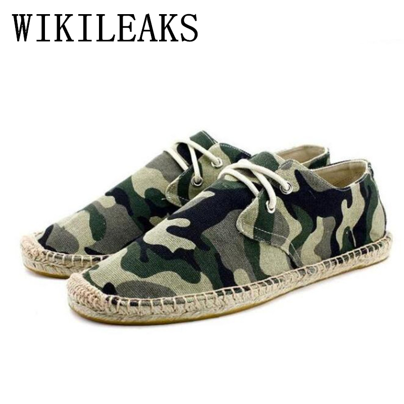 2017 Autumn Men Shoes Breathable Camouflage Canvas Shoes Fashion Flat Espadrilles High Quality Military Casual shoes
