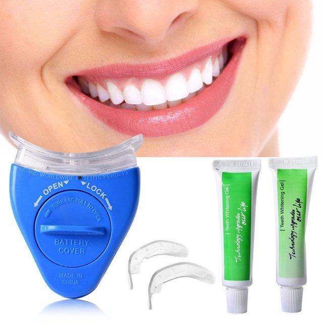 Novos Dentes Luz Branca Clareamento Dental Gel Branqueador Saude