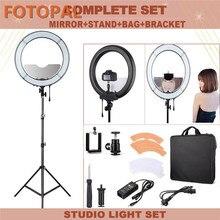 """Fotopal 18 """"кольцевая лампа 240 LED Фотографическая освещение затемнения камеры Фото/Studio/телефон/видео селфи кольцо свет штатив Стенд"""