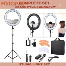 Fotopal 18″ Annular Lamp 240 LED Photographic Lighting Dimmable Camera Photo/Studio/Phone/Video Selfie Ring Light Tripod Stand