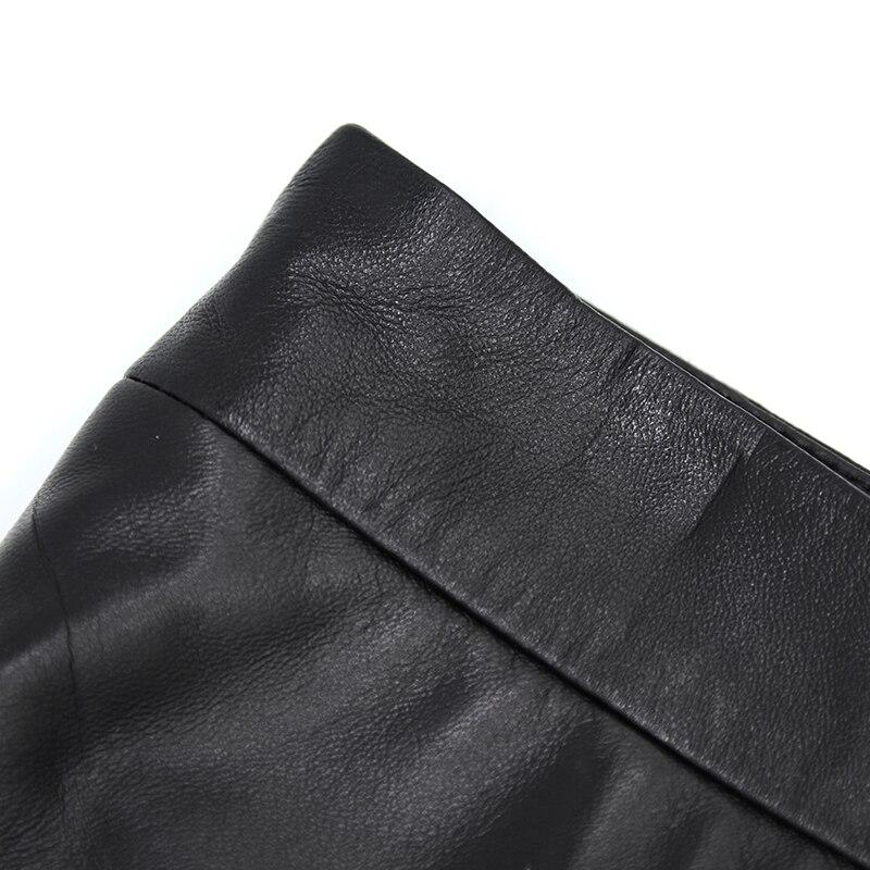 En Bouton Peau Jupes Arrivée Mouton Véritable Sexy 2018 Maylooks De Casual Courtes Cuir Le018 Femmes Shorts New Black Avec Real Jeans zZE6w0q