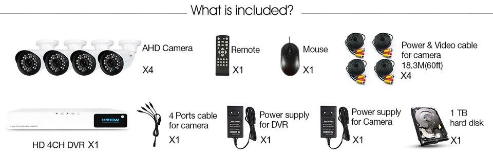 CCTV Security Camera System 4410X5AMC4 (3)