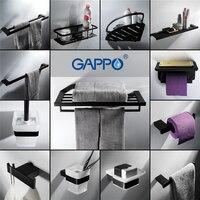 GAPPO Towel Bars bathroom towel holder hanger rod bath hardware accessories wall mounted bath racks bathroom shelves Paper Holde