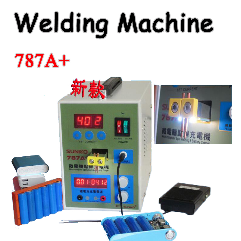 Spot Welder with LED light Battery Welder Applicable Notebook & Phone Battery Precision Welding Pedal 787A+ Battery Spot Welder spot welder machine laptop button battery welding machine battery pack applicable notebook and phone battery welding