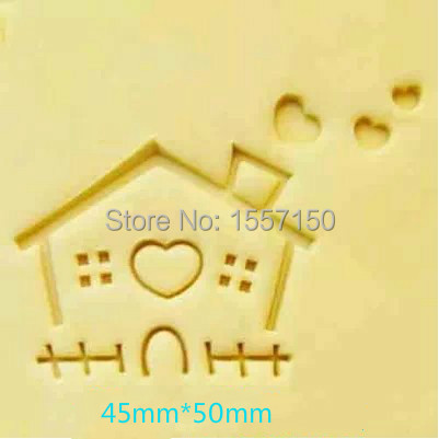 Free shipping house  pattern Mini diy soap stamp chaprter seal 4.3*5cm ZZ044