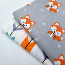 Cotton Twill Fabric Cute Animal Printing Home Textile DIY Sewing Quilting Material Crafts Cloth Bedding For Baby
