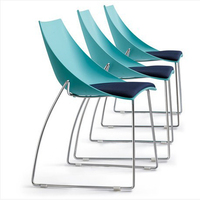 Новинка, оптовая продажа! повседневное стулья для столовой, металл и пластик, председатель конференции, офисные кресла, мебель для гостиной