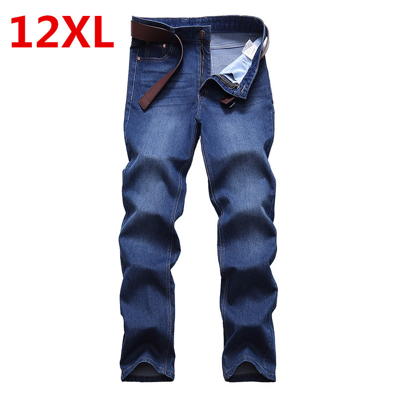 big size 12XL   Autumn And Winter men jeans thicken trousers brand clothing 2017 new fashion casual trousers male quality pants