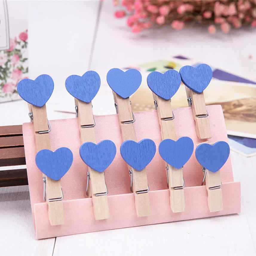 10 Pcs/set Clips Wall Deco DIY Creative Frame With Mini Colored Clothespins perfect decoration for your bedroom or living room