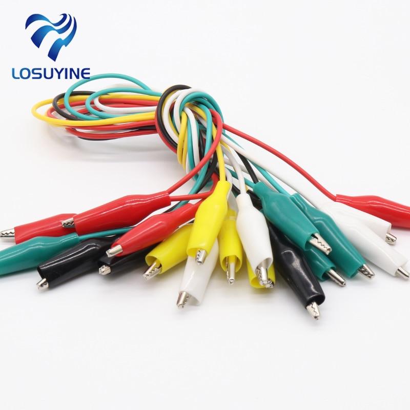 Clips de cocodrilo de 20 piezas Clips de conexi/ón de cable el/éctrico de 28 mm