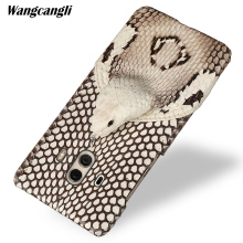 Brand genuine snake skin phone case For HUAWEI Mate 10 back cover protective leather 9