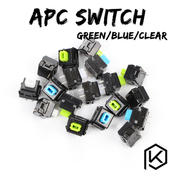 Taihao-interruptor apc para teclados mecánicos, color verde, azul, verde, Clicky55g, 65g, Clicky,...