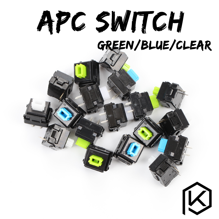 Taihao Apc Switch Green Blue Green Clicky55g Linear 65g Clicky 280g Like Alps Switches Matias Switch For Mechanical Keyboards