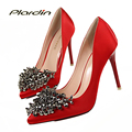 plardin Glitter Party Pumps Women Wedding Pumps Victoria Shoes Woman 2017 Women's Color Sweet  Bridal High Heels