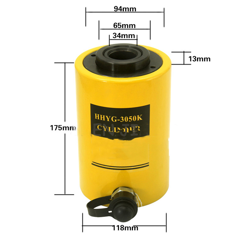30T Hollow Hydraulic Jack Cylinder Multi-use Manual Oil Pressure Hydraulic Lifting and Maintenance Tools RCH-3050 hollow hydraulic jack rch 2050 multi purpose hydraulic lifting and maintenance tools 20t hydraulic jack 1pc