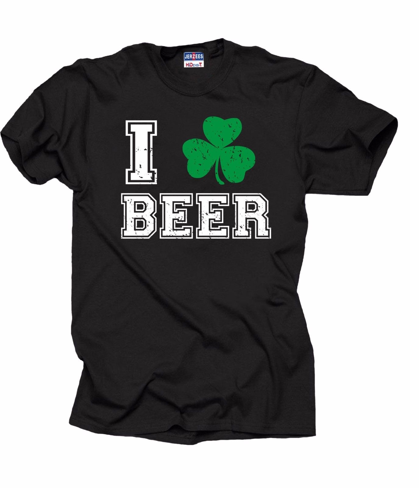 Saint Patrick Day T-Shirt I love Beer Shamrock Irish Ireland Tee Shirt ...