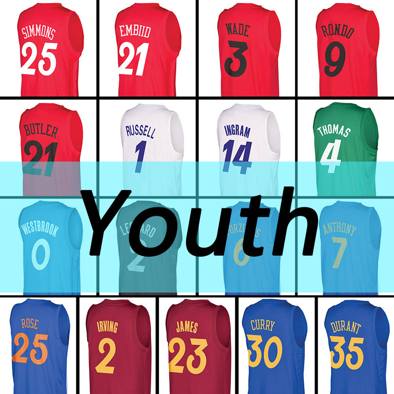ab14bc42459 ... low price new 2016 christmas jersey youth joel embiid 100 stitched  curry wade durant russell westbrook