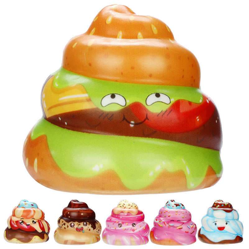 1pc Squishies Kawaii Cream Cake Poo Slow Rising Cream Scented Stress Relief Toys squirrel swipes anti-stress for kid QA funny gadgets football squishy slow rising cream scented decompression kid toys anti stress ball kawaii squishies joke toys gift