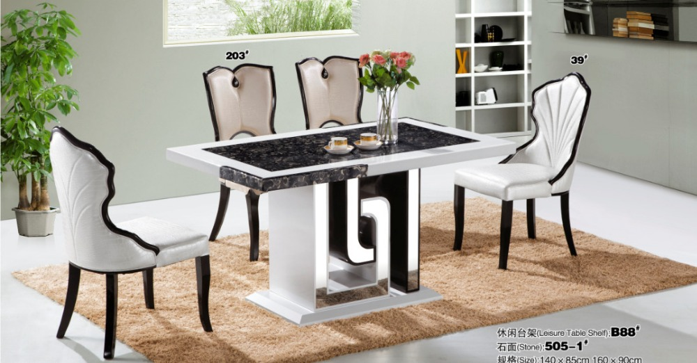 modern durable stainless steel dining table