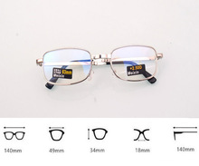 Folding is clear glass lens Men Women reading glasses hyperopia Grids lightning Case Reading Glasses + 1.0 + 1.5 + 2.0 + 2.5 + 3.0 + 3.5 + 4.0
