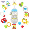 12Pcs/set Plastic Hand Bell Ring Rattle Baby Kids Toys Colorful Children Shake Musical Plaything Rabbit Heart Baby Shower Gift