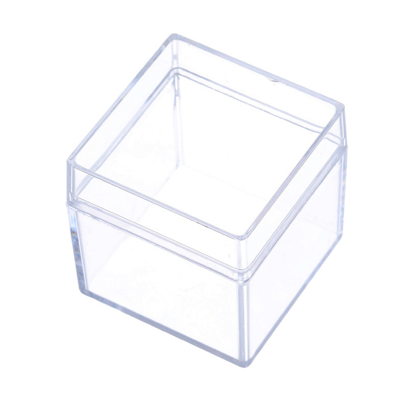 24pcs Square Clear Acrylic Plastic Box Wedding Candy Box Favor Boxes Baby Shower Baptism Party Supplies