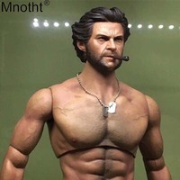 Mnotht Wolverine Head Carving Model 1:6 Tert of Wolves Rogan Youth Edition Male Soldier Toy Accessory for 12in Action Figure ma
