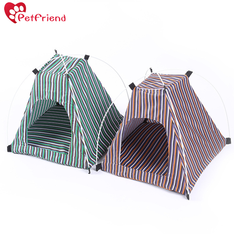 Portable Folding Dog House Sun Beach Tent Indoor Outdoor Waterproof Pet Tent Dog Bed Crate for Summer Small Size Dogs and Cats