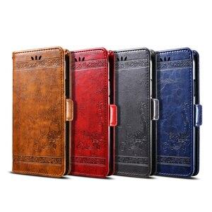 Image 5 - For BQ 5204 Case Vintage Flower PU Leather Wallet Flip Cover Coque Case for BQ 5204 Strike Selfie Phone Case Fundas