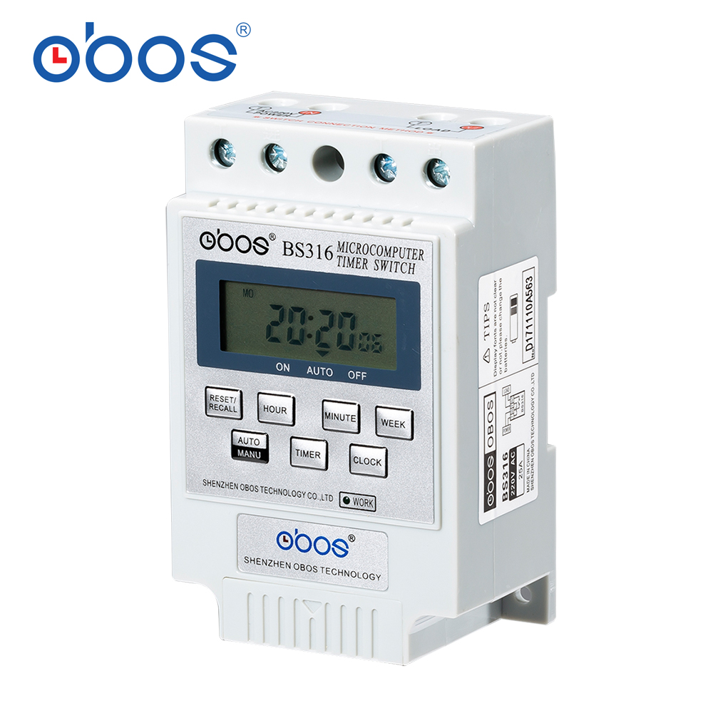 Temporizador BS316 (KG316T) Inteligente Do Microcomputador Programável Interruptor de Tempo Relé Controlador de Vários Seleção de Tensão Eletrônico