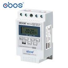 Minuterie BS316 (KG316T) micro-ordinateur Intelligent Programmable commutateur de synchronisation électronique contrôleur de relais diverses sélection de tension