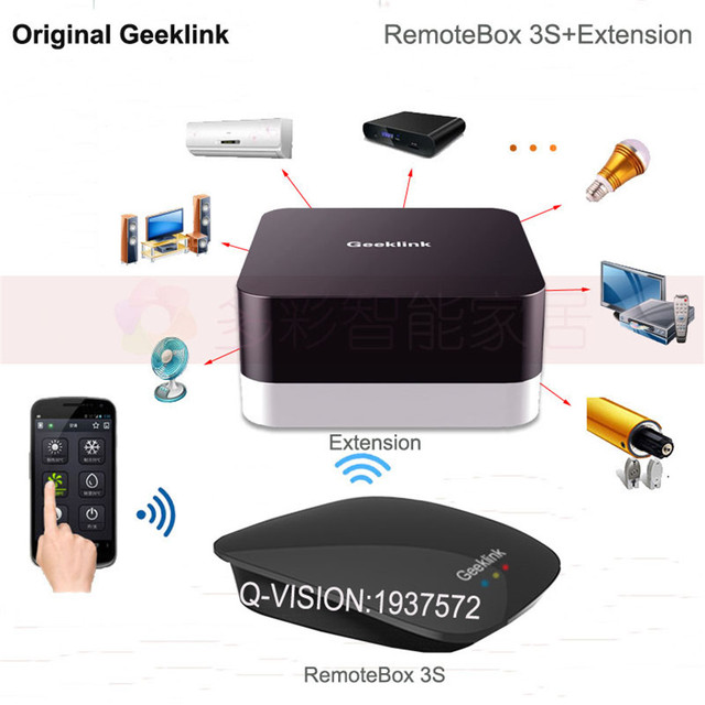 Geeklink Remotebox 3S Intelligent Smart Home Controller IR RF+Extension Wifi Remote Control Switch by Phone for Home Automation