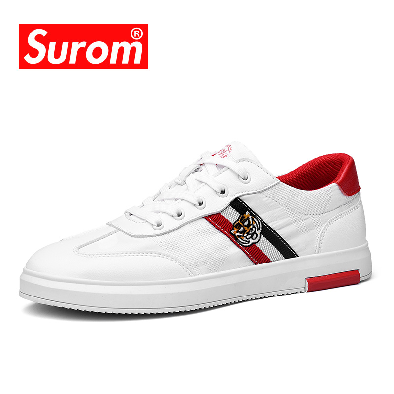 SUROM Summer Clearance Casual Shoes Men Luxury Brand Breathable Sneakers Fashion Male Non slip Flat Shoe