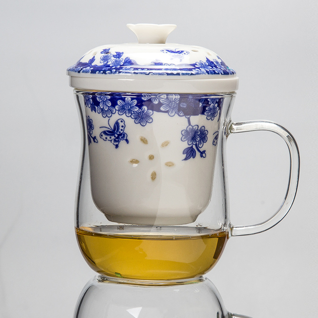 Porcelain Coffee Cup Tea Cup With Lid Teapot Ceramic Tea Cup Infuser