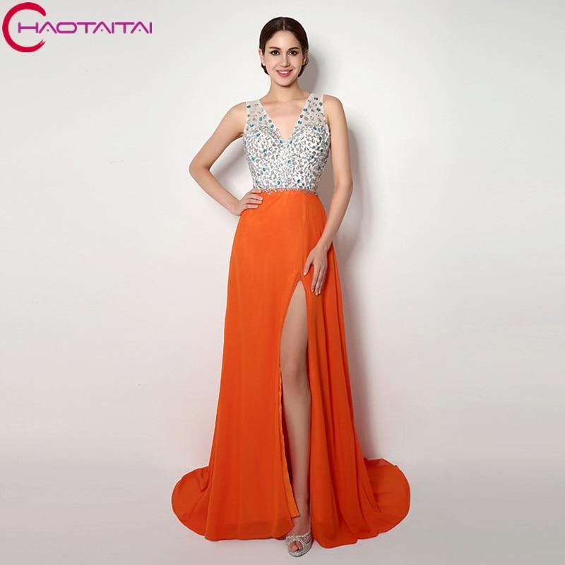 Платье из стразов длинной