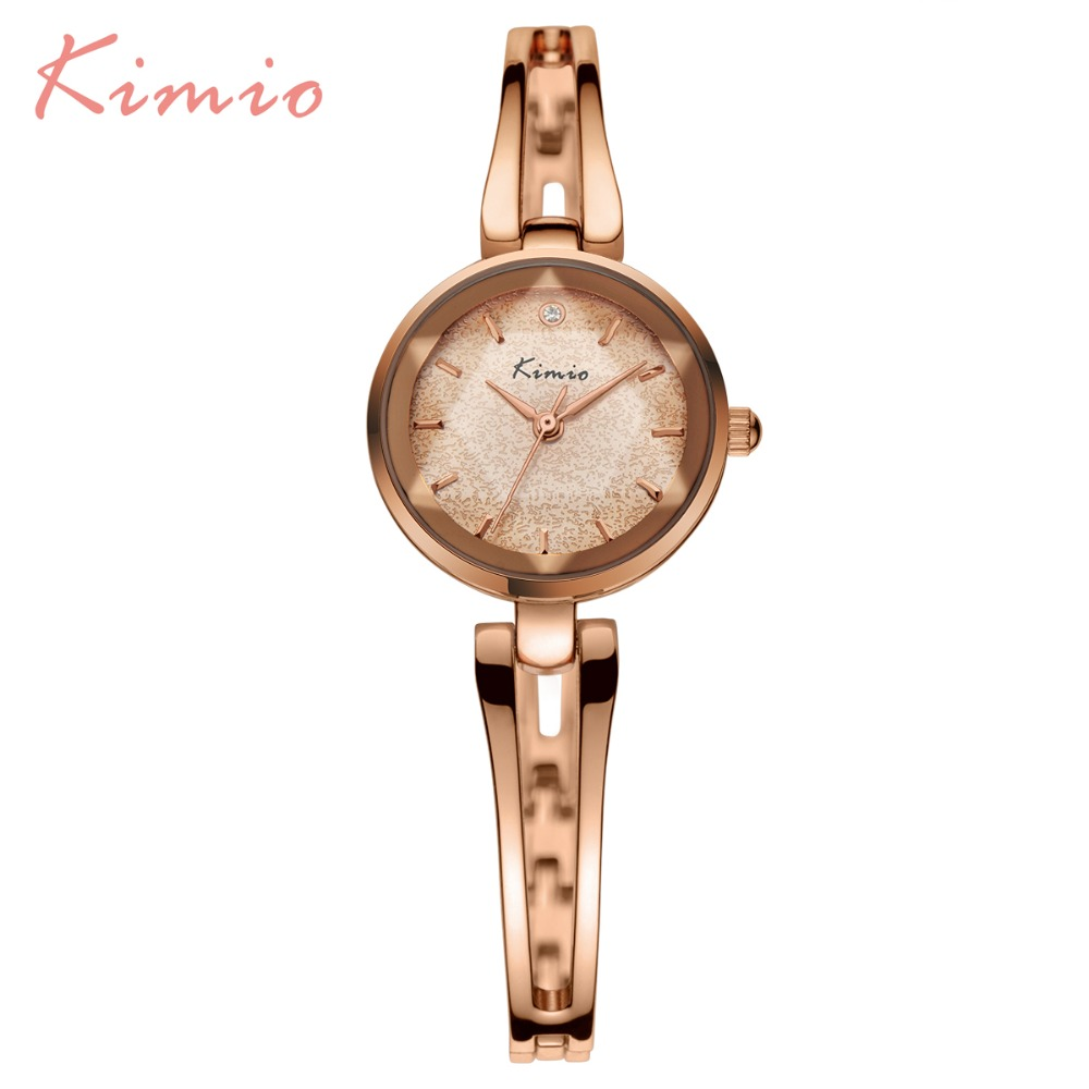 2017 New HOT Kimio Women's watches Quartz bracelet wristwatches women ladies dress watch luxury Relogio Feminino with Gift Box new fashion brand gold geneva casual quartz watch women crystal silicone watches relogio feminino dress ladies wristwatches hot