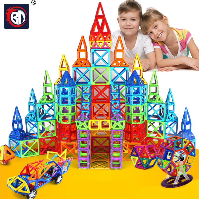 Big Size 135pcs Magnetic Designer Construction Set Model & Building Toy Plastic Magnetic Blocks Educational Toys For Kids Gift