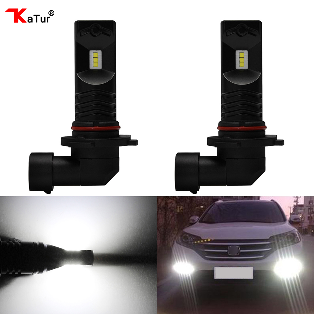 Katur 80W 9005 HB3 H10 Led Bulbs For Cars Daytime Driving Fog Light CSP Chip Super Bright 6000K White Lighting 9006 HB4 Led Lamp solid color pocket hemming lapel long sleeve slimming trendy polyester blazer for men