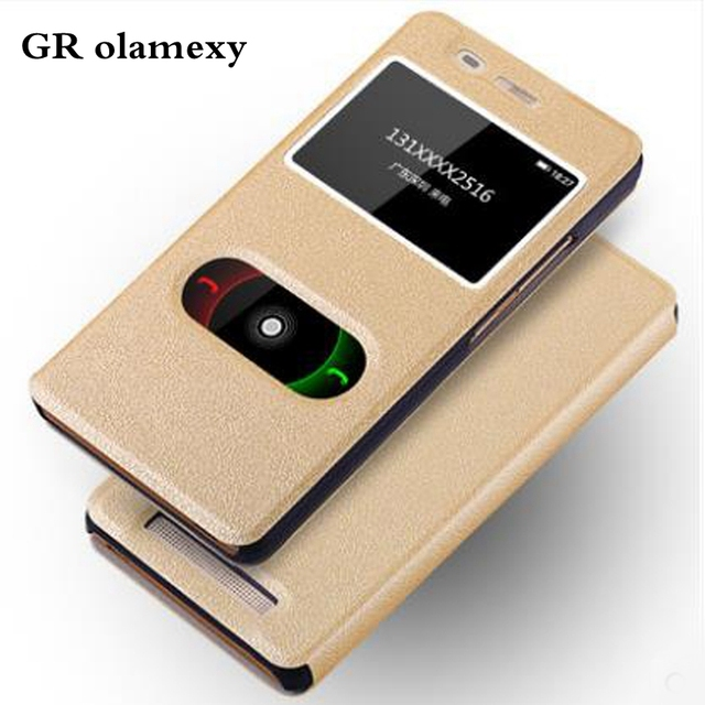 outlet store sale e9847 05ec8 US $9.29 |GR olamexy Flip Open PU Leather Covers for Gionee Marathon M5  Lite Mobile Cell Phones Shell Case Funda Coque Free shipping-in Flip Cases  ...