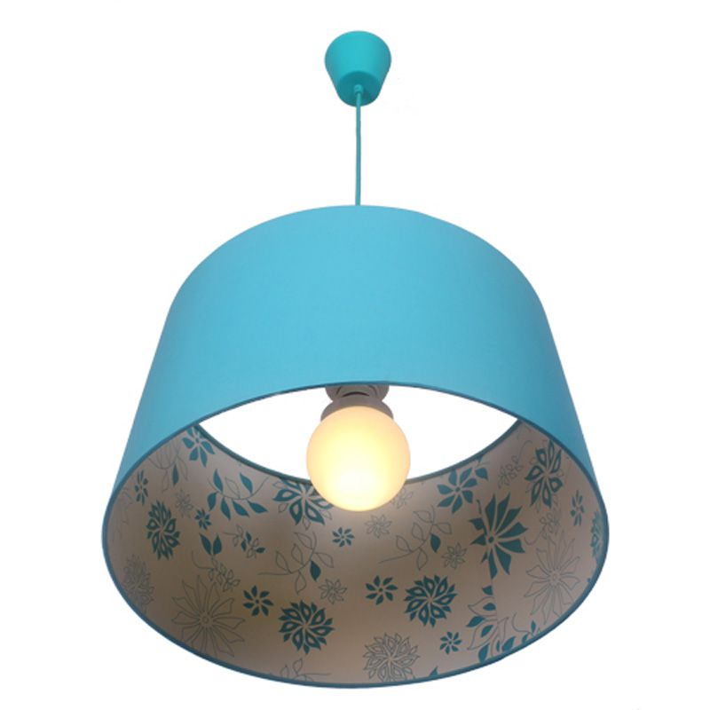 Blue Fabric Bedroom Pendent Light Pastoral Simple Study Room Pendent Lamp Dining Room Kitchen Balcony Pendent LampsBlue Fabric Bedroom Pendent Light Pastoral Simple Study Room Pendent Lamp Dining Room Kitchen Balcony Pendent Lamps
