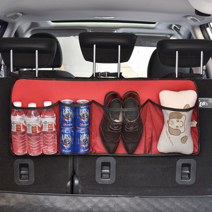 Car Seat Organizer Adjustable Backseat Storage Bag Net High Capacity Multi-use Oxford Automobile Seat Back Organizer Accessories