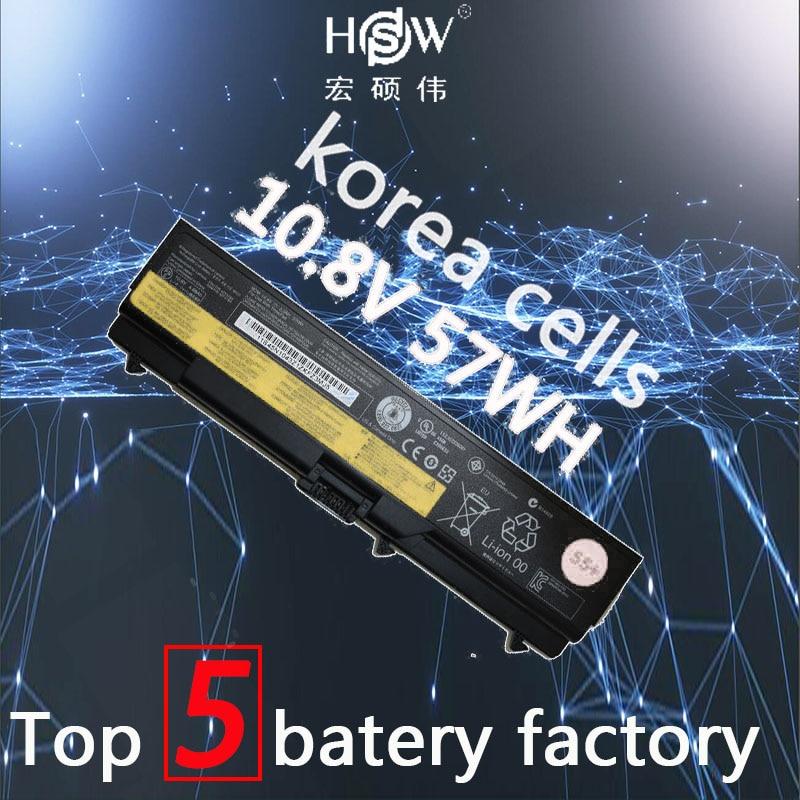 HSW 10.8 v 57WH batterie d'ordinateur portable POUR Lenovo E40 L512 T410 E50 E420 L520 E425 SL410 T420 E520 T510 E525 batteria