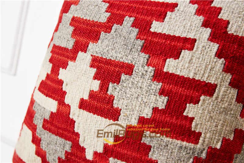 เมดิเตอร์เรเนียนสีแดงหมอนครอบคลุมสำหรับโซฟา Kilim handmade หมอนอิงเก่าร้านกาแฟตกแต่ง fc04 gc131yg8