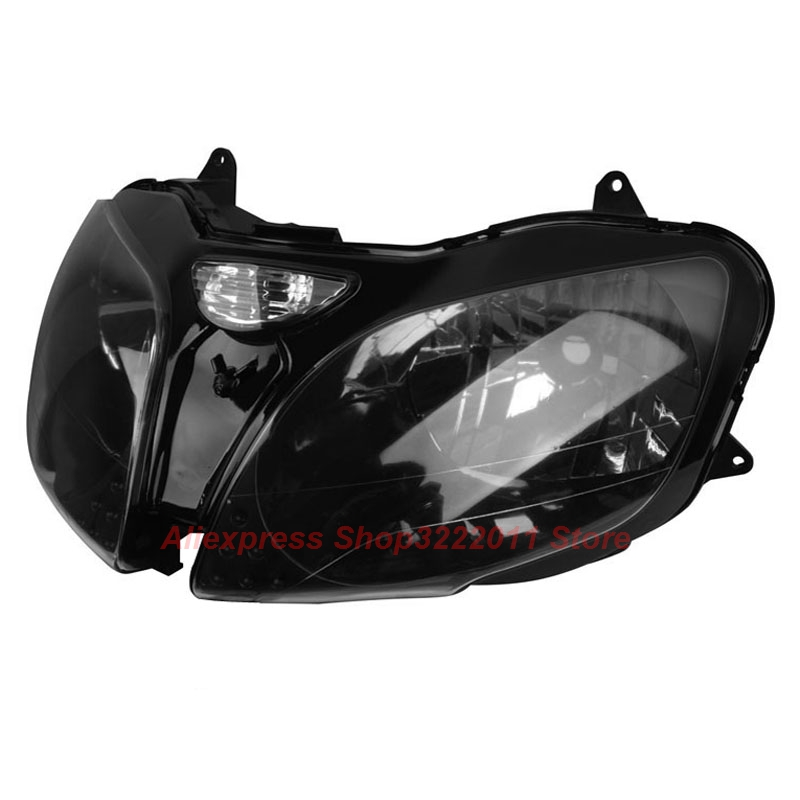 Clear Lens Motorcycle Plastic Front Light Lamp Case For Kawasaki Ninja ZX6R 2000 2001 2002 Headlight Housing Set front fender fairing for kawasaki ninja zx6r 2000 2001 2002 unpainted white new replacement zx 6r 00 02