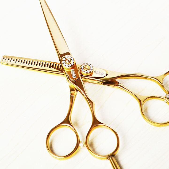 티타늄 5.5 인치 머리 전문 가위 세트 가위 가위 및 머리카락 가위를 핫 판매가 위 세트 무료 배송