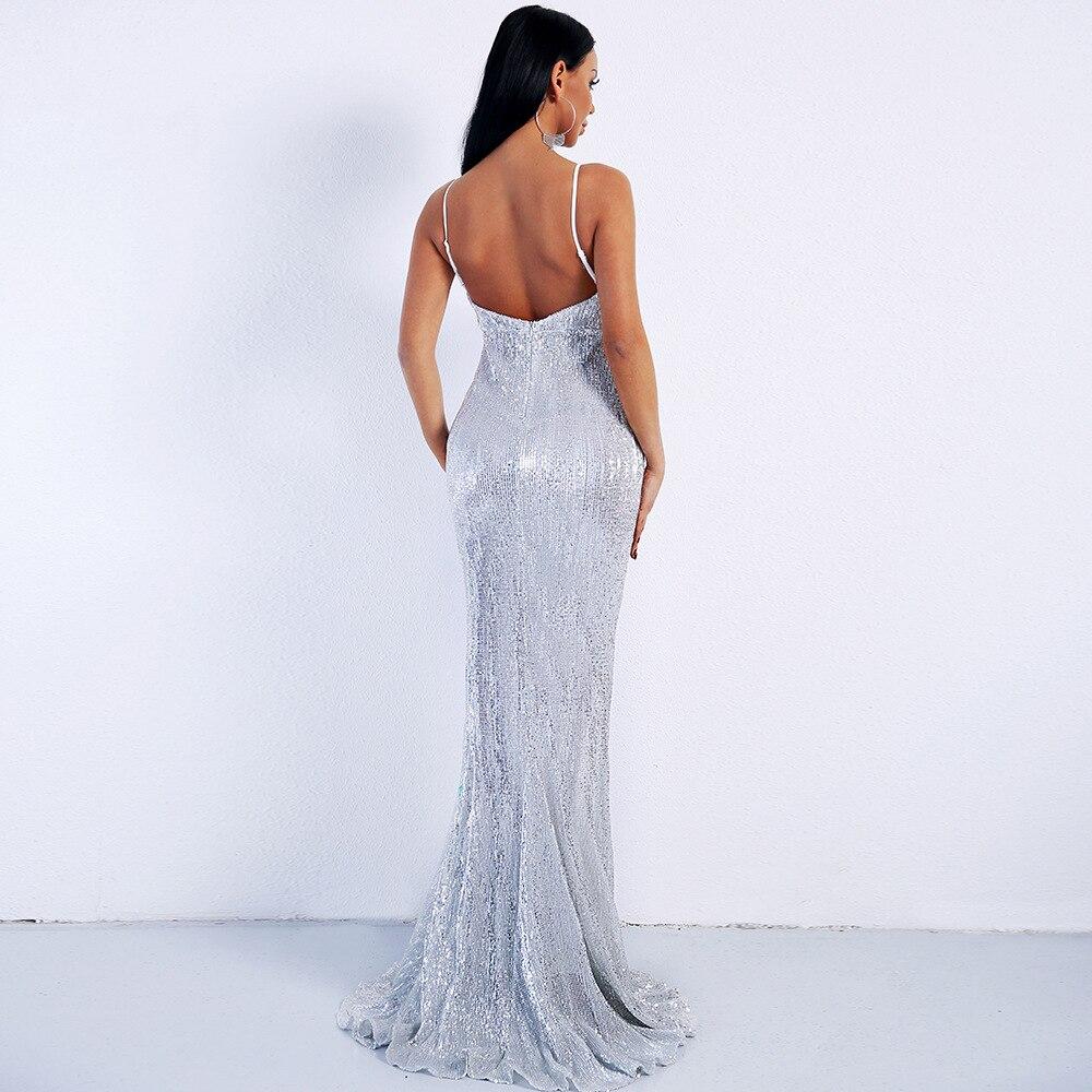 Bleu À Gros Moulante Sexy De Haute Paillettes Manches Robe Soirée Gaine Rose Courroie Celebrity Élégant Femmes Qualité Sans LSGzpUMqV