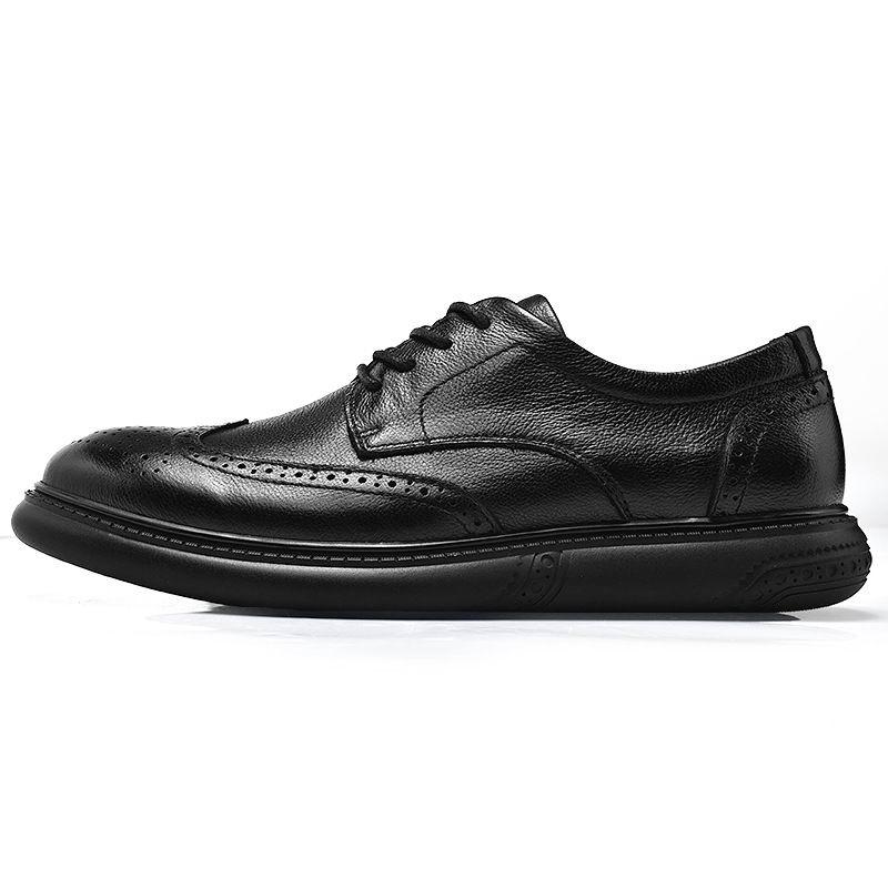 Cuir Loisirs Noir Errfc Homme Mode Dentelle En Plate Robe Chaussures Hommes Tendance Taille Richelieu 3846 forme Noire Jusqu'à Avant Designer La Jlc1TFK